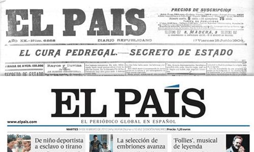 El logo del diario El País, ¿inspirado en un periódico del siglo XIX?